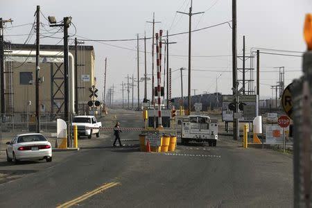 A view of an entrance to the Tesoro refinery in Martinez