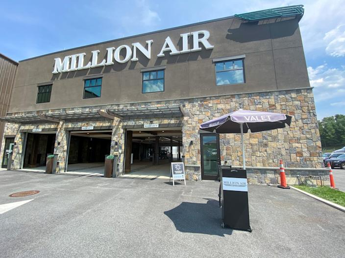 The Million Air private terminal at Westchester County Airport.