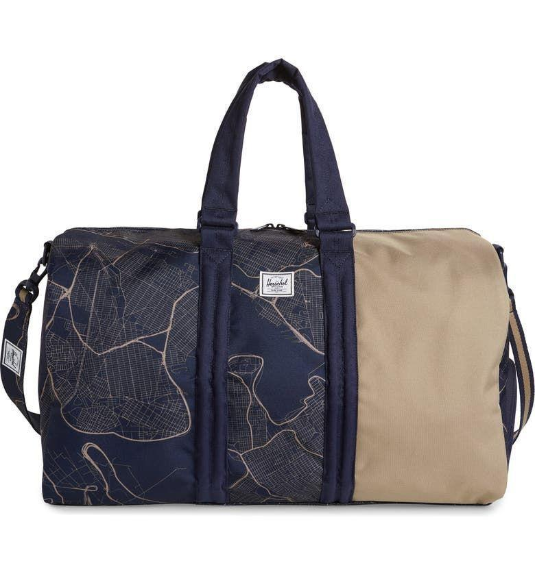 """<p><strong>Herschel Supply Co.</strong></p><p>nordstrom.com</p><p><strong>$59.90</strong></p><p><a href=""""https://go.redirectingat.com?id=74968X1596630&url=https%3A%2F%2Fwww.nordstrom.com%2Fs%2Fherschel-supply-co-tech-novel-duffle-bag%2F5900879&sref=https%3A%2F%2Fwww.housebeautiful.com%2Fshopping%2Fbest-stores%2Fg37155428%2Fnordstrom-anniversary-sale-home-deals-2021%2F"""" rel=""""nofollow noopener"""" target=""""_blank"""" data-ylk=""""slk:BUY NOW"""" class=""""link rapid-noclick-resp"""">BUY NOW</a></p><p>Even if you're avoiding unpacking from your weekend trip, this duffle is chic enough to keep on display until your next vacation.</p>"""