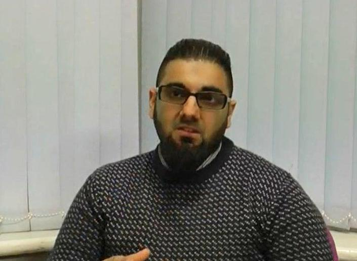 <p>Usman Khan, 28, makes a 'thank-you' message for a Learning Together event in March 2019</p> (Metropolitan Police/ PA)