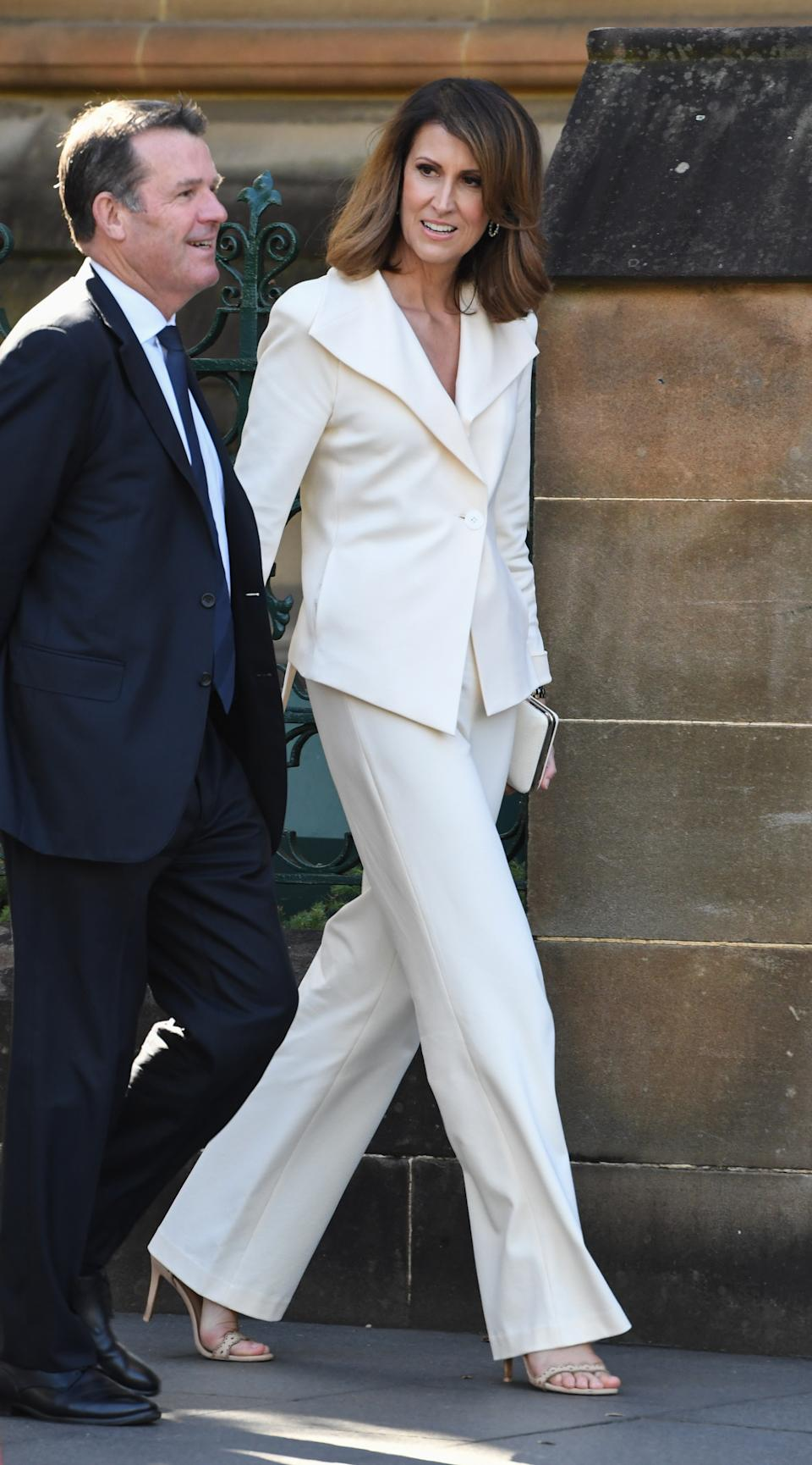 Natalie Barr attends the State Funeral for Carla Zampatti at St Mary's Cathedral on April 15, 2021 in Sydney, Australia.