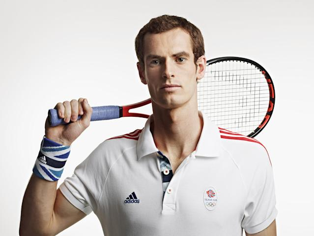 LONDON, ENGLAND - UNDATED: In this handout image from adidas, Team GB tennis player Andy Murray pictured in adidas Team GB London 2012 Olympic kit in London, England. (Photo by adidas via Getty Images)