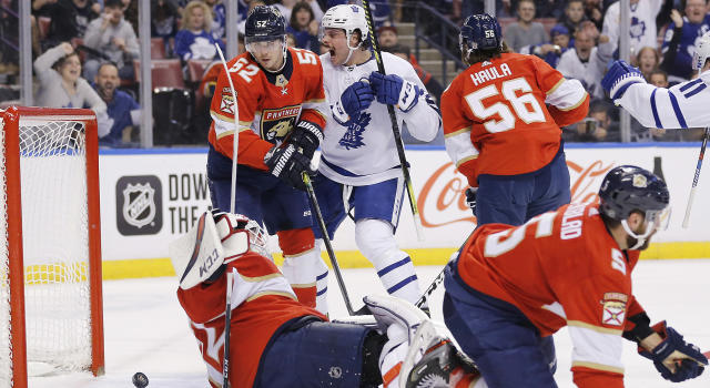 The Toronto Maple Leafs took a massive step toward making the postseason with a win over the Florida Panthers on Thursday. (Photo by Michael Reaves/Getty Images)