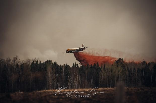 A fast-moving Alberta wildfire that started Thursday night triggered evacuation orders in areas of Parkland County, west of Edmonton. (Krystina Lynn Photography - image credit)