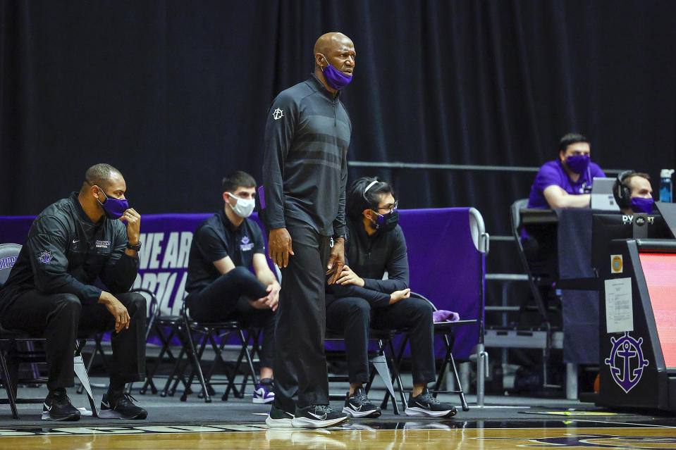 Head coach Terry Porter of the Portland Pilots