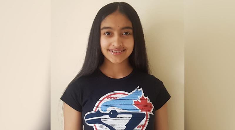Kareena Persaud, 13, keeps on top of her school work from home, but misses asking questions in class and seeing her friends. (Photo: Supplied.)
