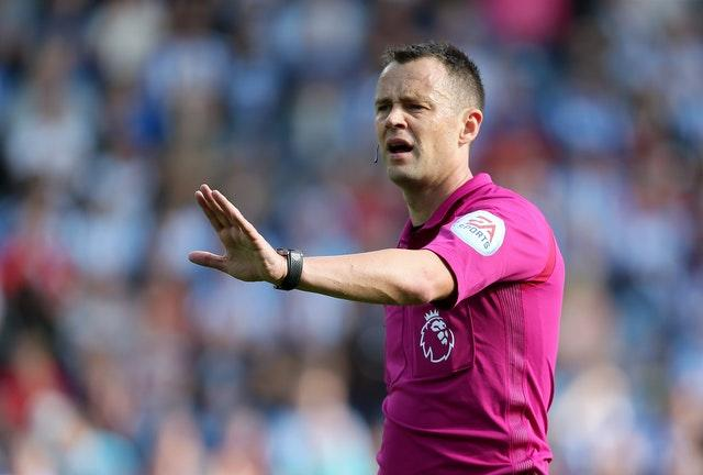 Stuart Attwell was embroiled in controversy in his early days as a Football League referee (Richard Sellers/PA)