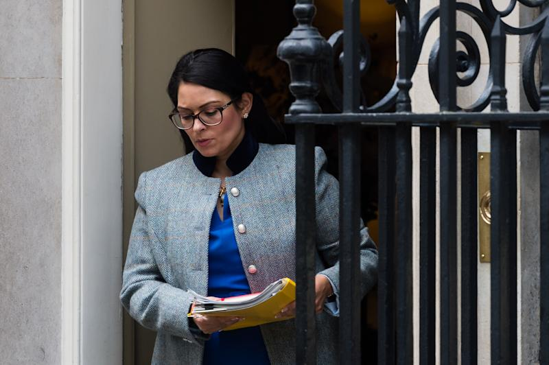 Secretary of State for the Home Department Priti Patel leaves 10 Downing Street in central London after attending Cabinet meeting on 17 March 2020 in London, England. (Photo by WIktor Szymanowicz/NurPhoto via Getty Images)