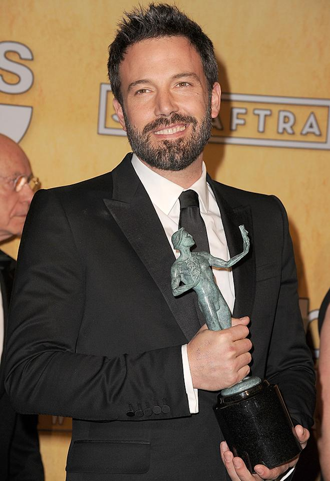 For those who are superstitious, Affleck doesn't need the doodles to win. He picked up a Screen Actors Guild Award with no notes from home.