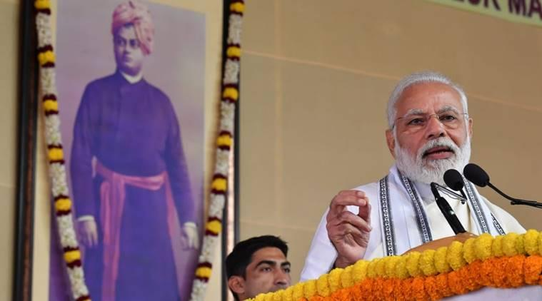 Narendra modi, TMC, CPI, opposition hits out at pm, modi's political speech at Belur Math, kolkata news, kolkata city news, west bengal news, indian express news