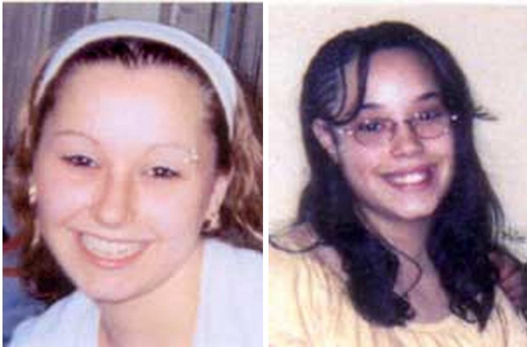 "These undated handout photos provided by the FBI show Amanda Berry, left, and Georgina ""Gina"" Dejesus. Cleveland Police Chief Michael McGrath said he thinks Berry, DeJesus and Michelle Knight were tied up at the house and held there since they were in their teens or early 20s. Berry and the two other women who went missing a decade ago were found on Monday, May 6, 2013 elating family members and friends who'd longed to see them again. (AP Photo/FBI)"