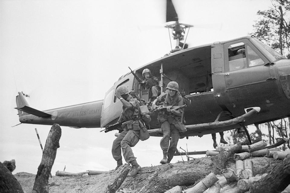 Tropas estadounidenses durante la guerra de Vietnam. (Getty Images)