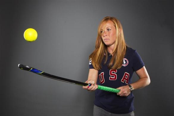 Field hockey player Lauren Crandall poses for a portrait during the 2012 U.S. Olympic Team Media Summit in Dallas, May 13, 2012.
