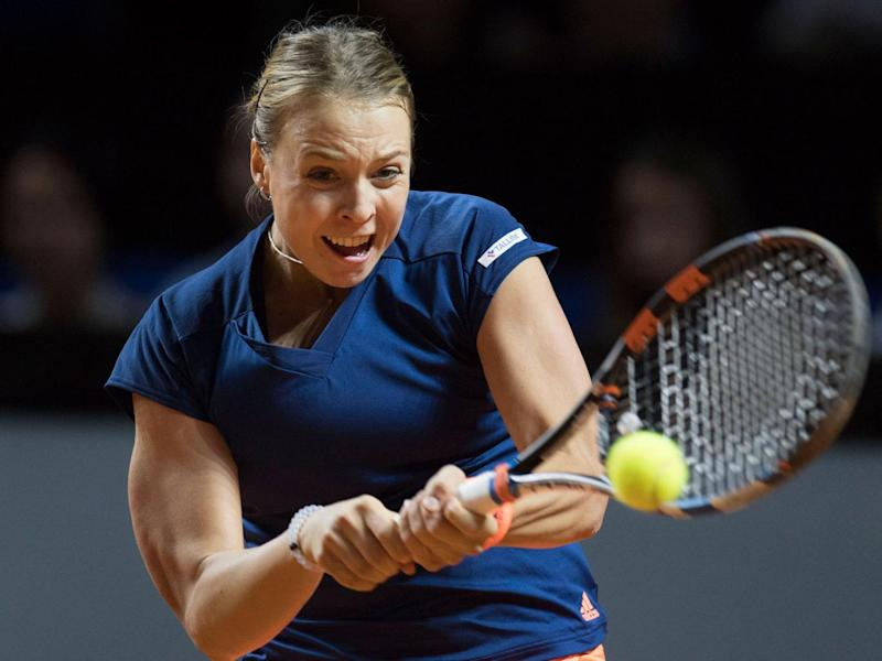 Kontaveit was unable to stop Sharapova in her tracks (Getty)