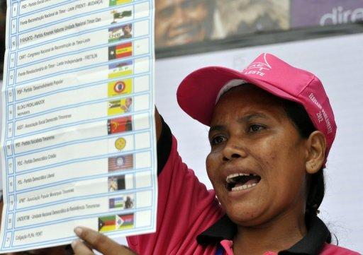 Final results in East Timor's parliamentary elections are not expected for several days