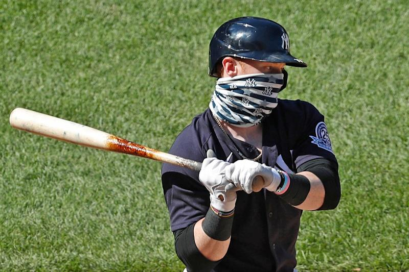 MLB Player Clint Frazier Explains Why He's Wearing a Mask on the ...