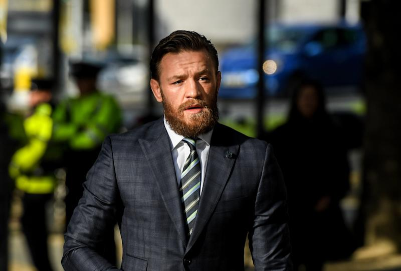 Dublin , Ireland - 11 October 2019; Conor McGregor arrives at The Criminal Courts of Justice in Dublin. (Photo By Ramsey Cardy/Sportsfile via Getty Images)