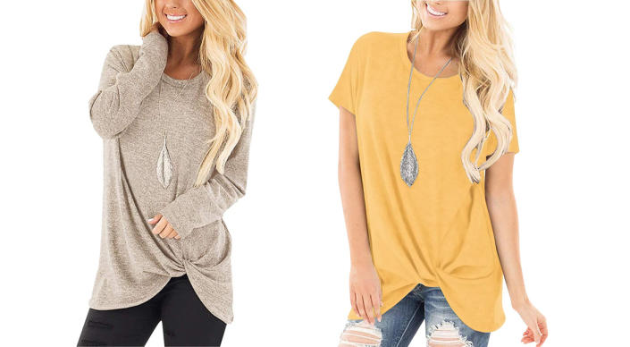 In a subtle neutral or an eye-catching spring hue, this tunic-tee is bound to become your new obsession. (Photo: Amazon)