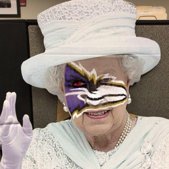 God save the Queen…from the Baltimore Ravens social media team