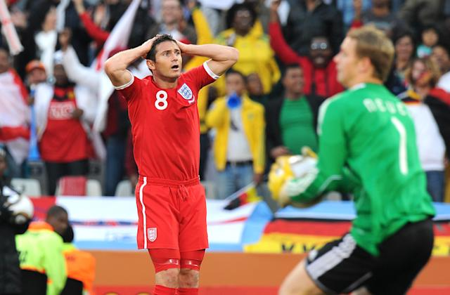 Fine lines: England's Frank Lampard sums up a nation's disbelief against the Germans in 2010