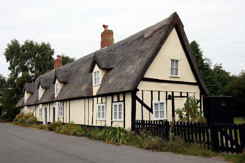 Two Thatched Cottages in the Suffolk Village of Tattingstone, owned by Babergh District Council, near Ipswich, thought to be the oldest in the country are to be sold off. (Photo by Chris Radburn - PA Images/PA Images via Getty Images)