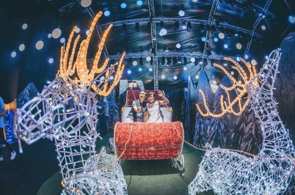 Taking a selfie at Christmas Wonderland. Photo: Blue Sky Events