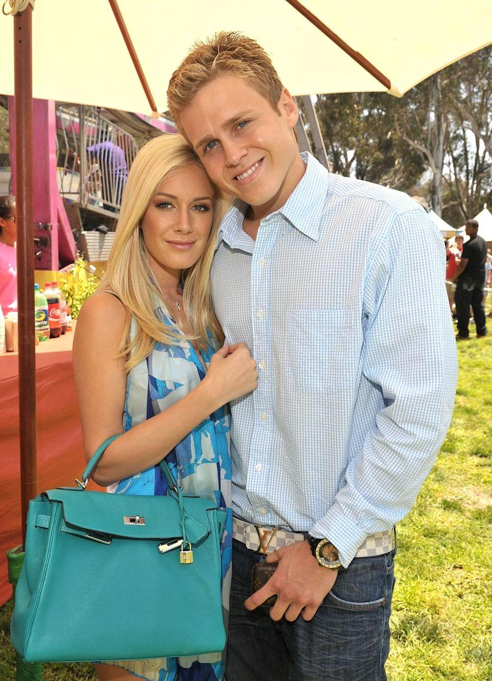 """<p>Speidi provided seasons worth of drama on MTV's <em>The Hills</em>. The couple met in 2007 at a Hollywood nightclub, while Heidi was filming season 2 of the hit show. They started dating, despite Heidi's best friend, Lauren Conrad, thinking Spencer was """"shady."""" Their relationship blew up Heidi's friendship with Lauren, sparked many storylines, and ultimately led to a 10-years-and-counting marriage and a son, Gunner. </p>"""