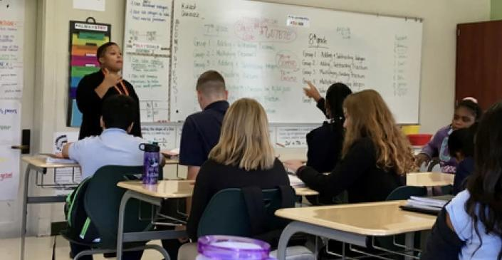 """Crystal Watson, a math teacher in Cincinnati, is drawing inspiration from a controversial guide about how to be an """"antiracist math educator."""" (Courtesy of Crystal Watson)"""