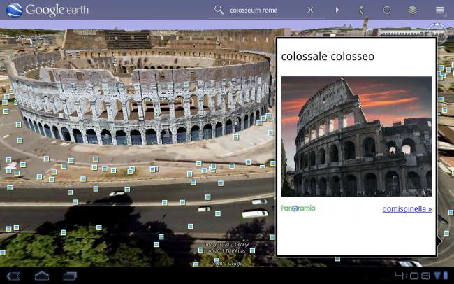 Google Earth tweaked for Android 3.0 tablets