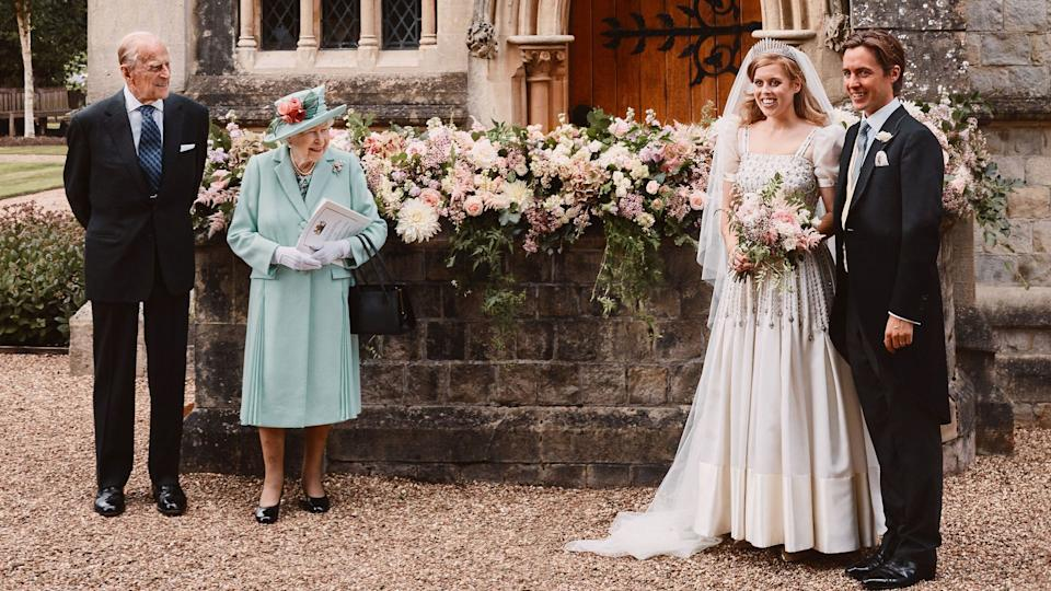 Princess Beatrice repurposed her Granma's dress for her big day, and she's not the only bride to do so. Photo: Getty Images