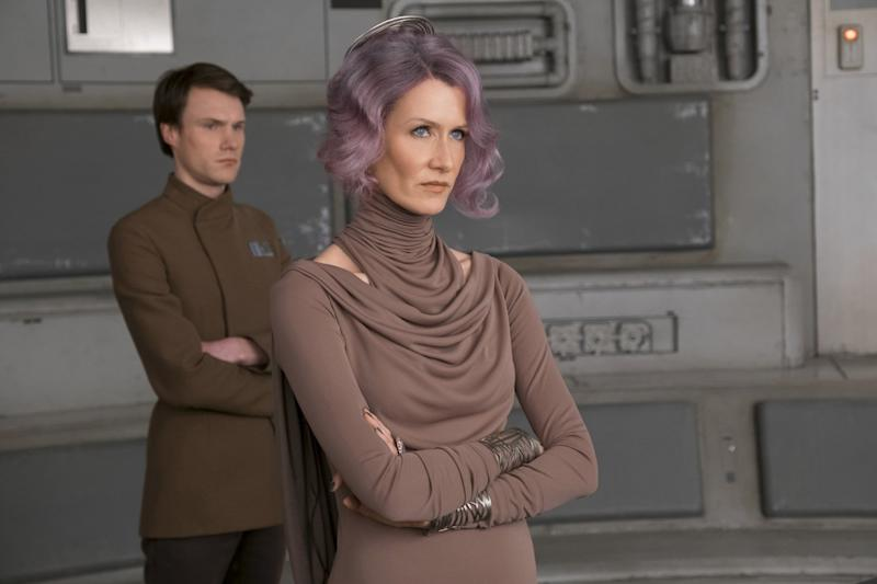 In character: Laura Dern as Vice Admiral Amilyn Holdo: David James/Lucasfilm via AP