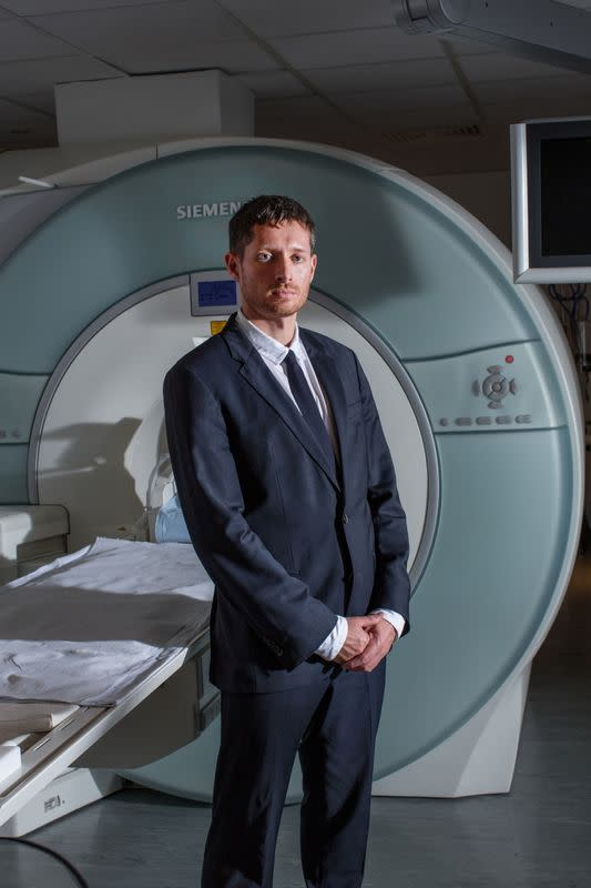 Dr Robin Carhart-Harris poses for a picture at Imperial College London's Hammersmith Hospital Campus, in London