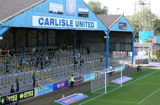 Carlisle supporters attending a pilot event at Southend in September