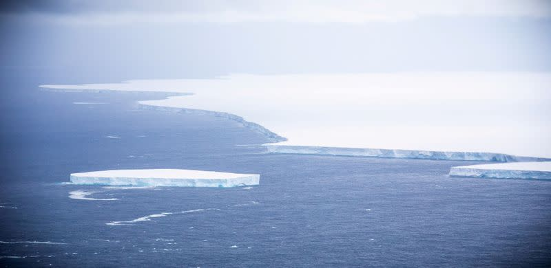 FILE PHOTO: FILE PHOTO: View of the A-68A iceberg from a Royal Air Force reconnaissance plane near South George island