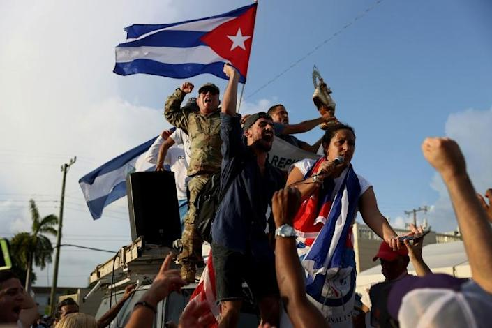 Complaining of hunger, thousands of Cubans took to the streets in unusual protests last month