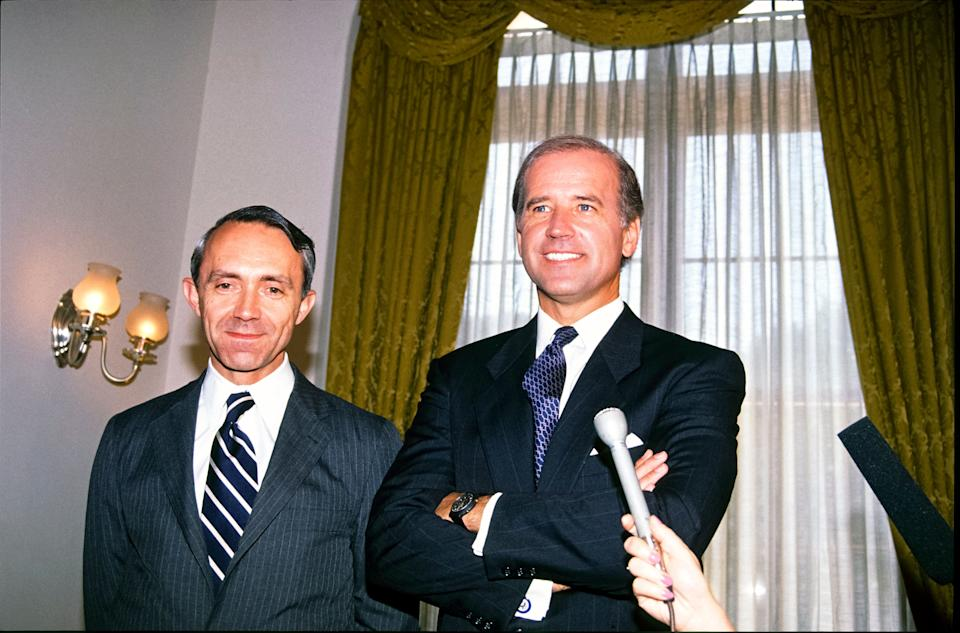Then-Sen. Joe Biden (D-Del) oversaw the Senate confirmation of George H.W. Bush's nominee David Souter. Souter would go on to defect from conservative bloc to the liberals once on the court. Credit: Arnie Sachs / CNP / MediaPunch /IPX (Photo: CNP / MediaPunch/MediaPunch/IPx)