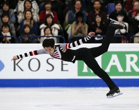 Figure Skating - ISU World Championships 2017 - Men's Free Skating - Helsinki, Finland - 1/4/17 - Boyang Jin of China competes. REUTERS/Grigory Dukor