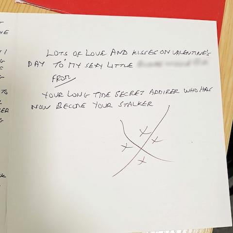 His handwriting and strange pattern of crosses are clues to his identity - Credit: Avon and Somerset Police/PA