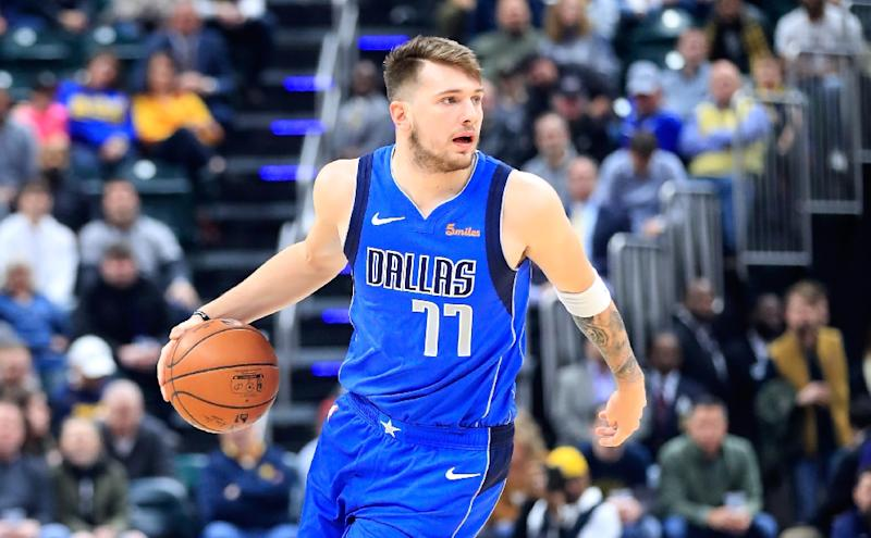 Luka Doncic of the Dallas Mavericks booted a ball into the stands in the  third quarter b247967b7