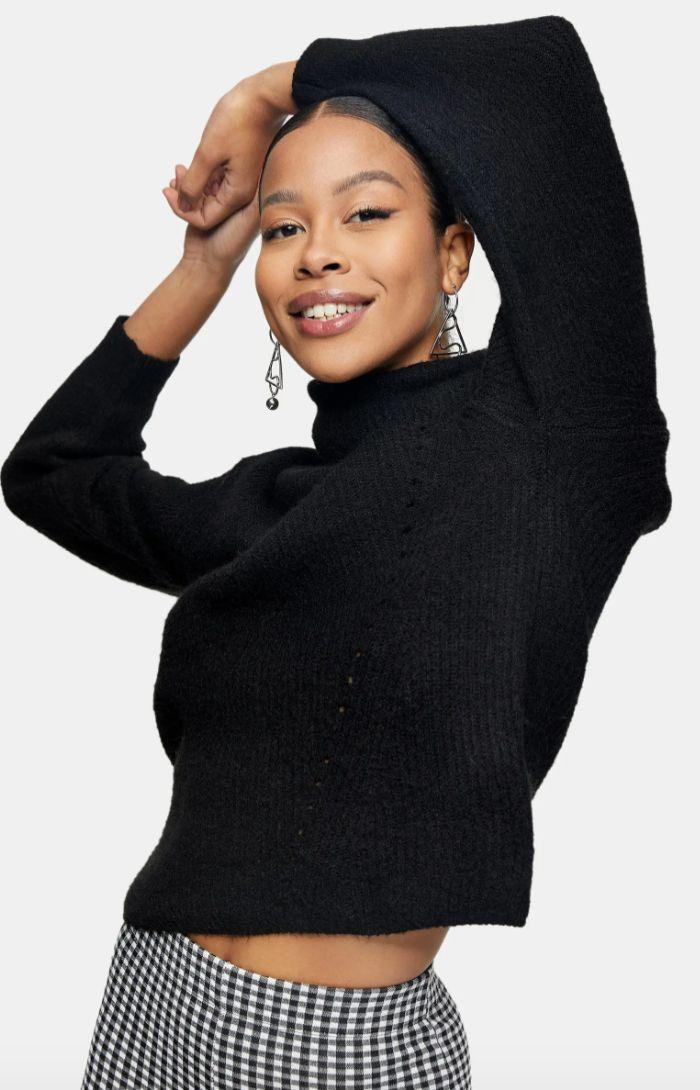 "The start of sweater weather means that readers wanted to get their winter wardrobe ready. This <a href=""https://fave.co/3myZnfM"" target=""_blank"" rel=""noopener noreferrer"">Topshop cropped sweater</a> was a <a href=""https://www.huffpost.com/entry/nordstrom-black-friday-deal-2020_l_5fa41219c5b6b35537e473b5"" target=""_blank"" rel=""noopener noreferrer"">popular pick</a>, featuring trends like roll-neck and puffed sleeves. And it's currently still on sale. <a href=""https://fave.co/2KPXdKQ"" target=""_blank"" rel=""noopener noreferrer"">Find it on sale for $46 at Nordstrom</a>."