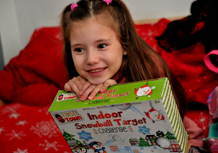 Phoebe made the decision after seeing an advert for Save the Children on TV (Picture: SWNS)