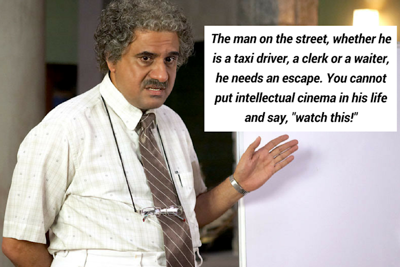 Boman Irani, who previously worked as a waiter and room service in hotel tells us why our country needs 'mindless' commercial cinema.