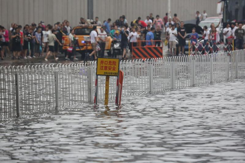 Residents inShenyang, Liaoning Province, were warned that incredibly heavy rains were on the way.