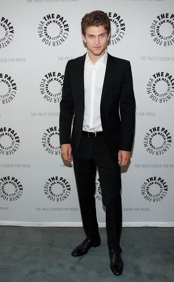 "BEVERLY HILLS, CA - JUNE 10: Keegan Allen  attends The Paley Center For Media Presents An Evening With ""Pretty Little Liars"" at The Paley Center for Media on June 10, 2013 in Beverly Hills, California. (Photo by Valerie Macon/Getty Images)"