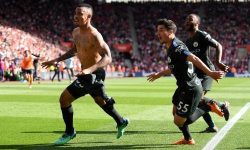 Manchester City hit 100 points with late Gabriel Jesus winner at Southampton