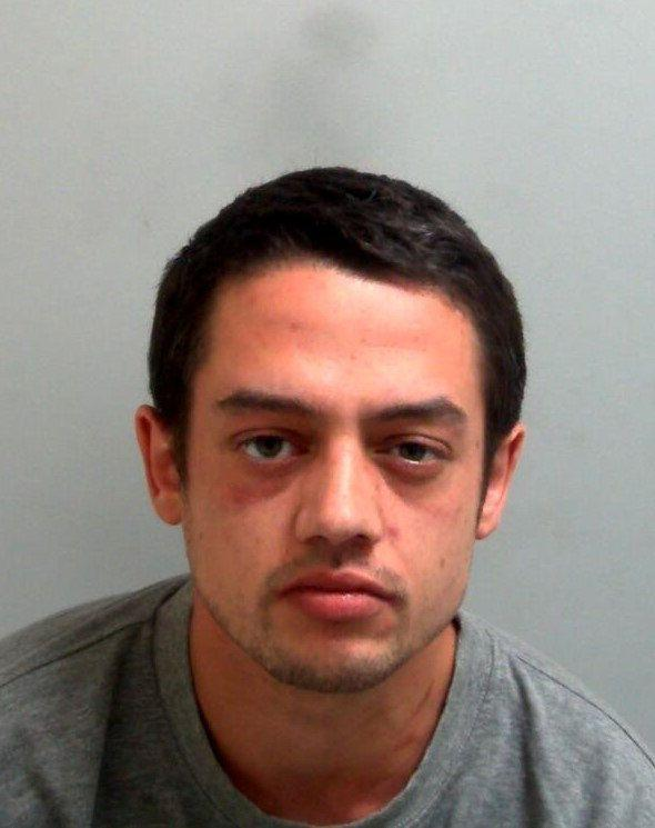 Justin Jackson, 28, from Basildon, was sentenced to three years and nine months in prison. (PA)