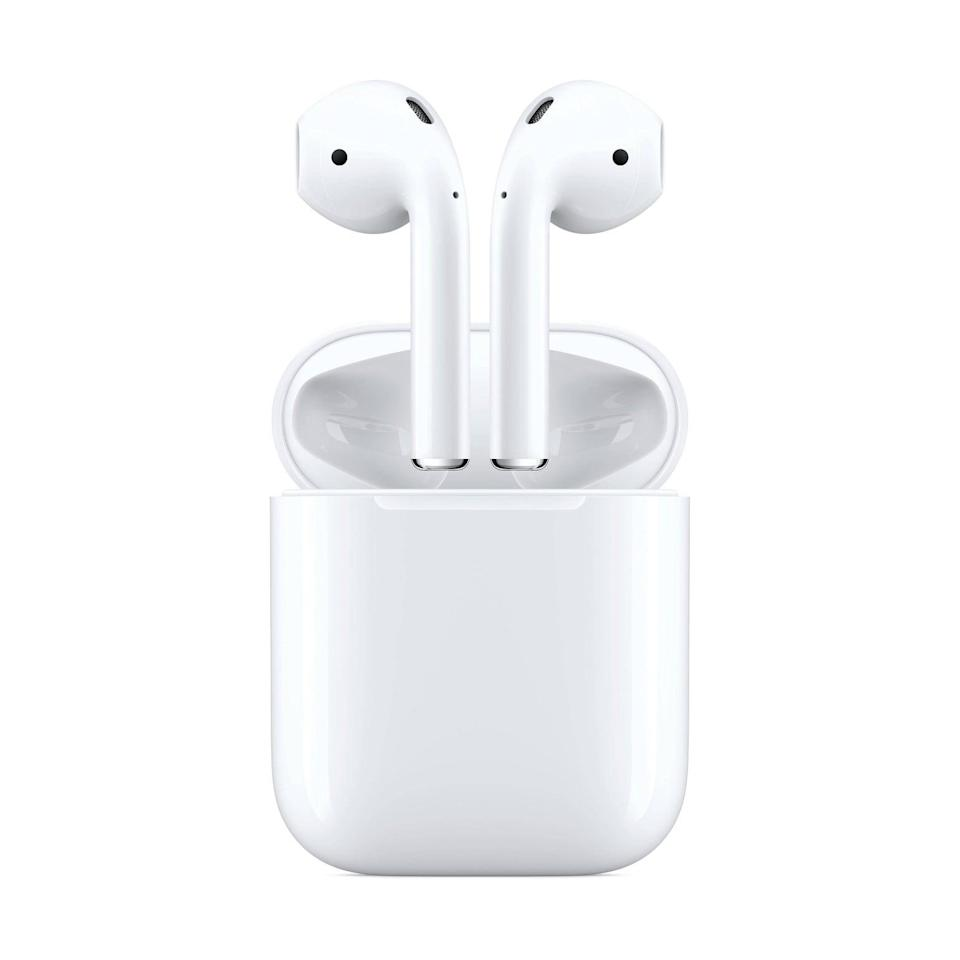 <p><span>Apple AirPods with Charging Case</span> ($130, originally $150)</p>