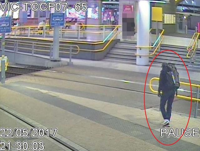 CCTV image of Salman Abedi at Victoria Station making his way to the Manchester Arena (GMP/PA)