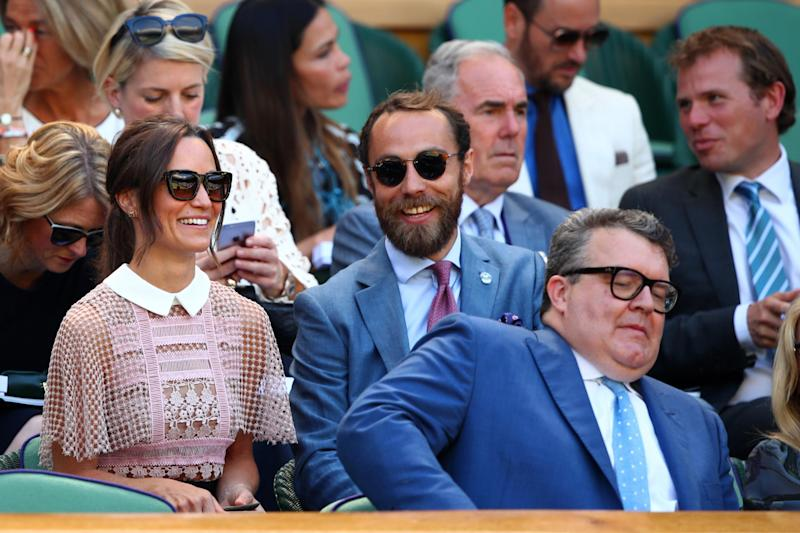 Mr Middleton pictured at Wimbledon with his sister Pippa (Getty Images)