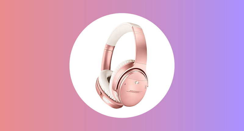 Bose QuietComfort 35 (Series II) Wireless Headphones, Noise Cancelling, with Alexa Voice Control, Rose Gold